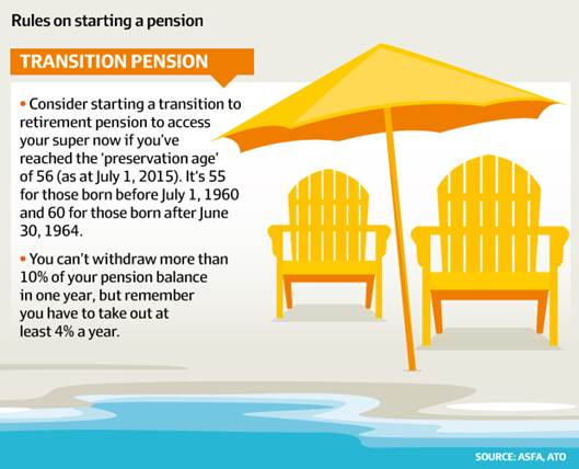 Rules on starting a pension